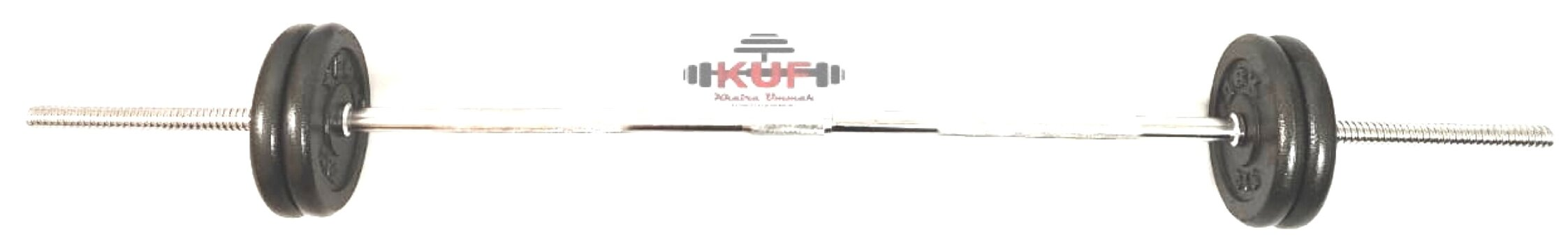 50KG iron cast long bar with weights