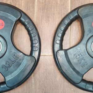 15kg Rubber Tri grip Olympic Plates