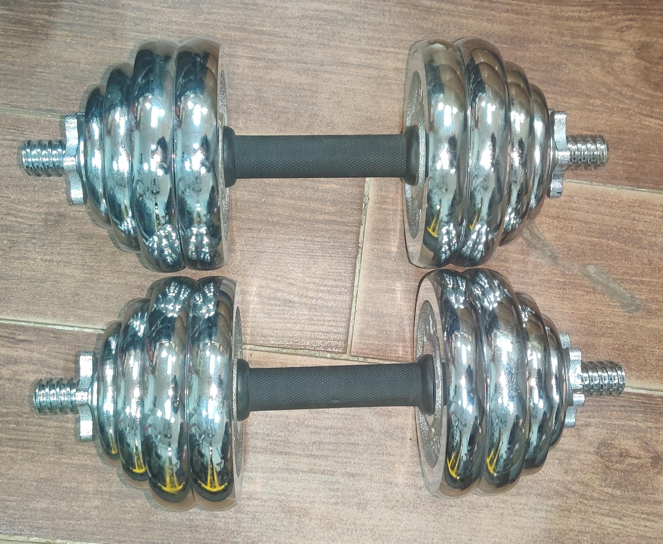 30kg Chrome dumbbells 15kg each hand