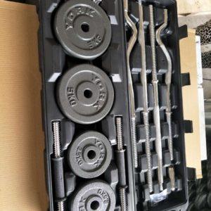 55kg adjustable dumbbell set iron cast
